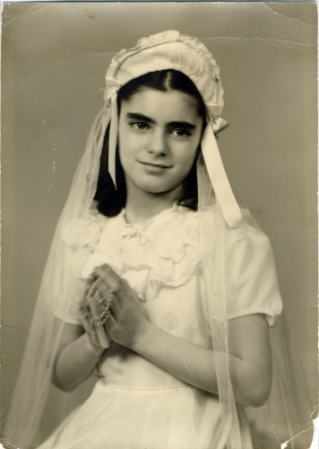 Aunt Gloria first communion